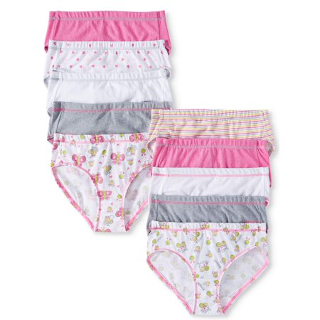 Hanes EcoSmart Tagless Brief Underwear, 10 Pack (Toddler Girls)