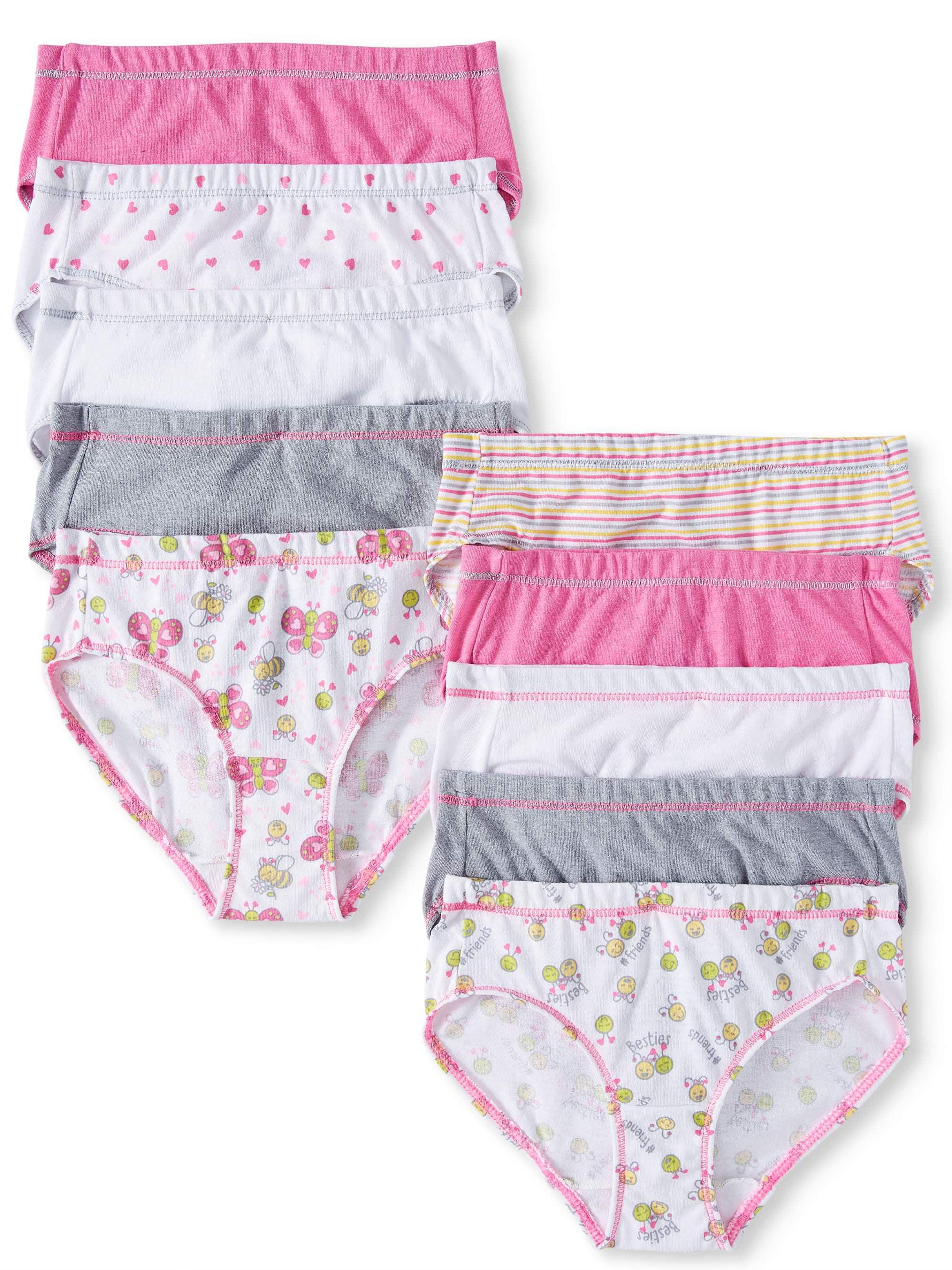 EcoSmart Tagless Briefs, 10 Pack (Toddler Girls)