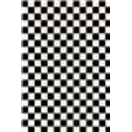 1909 Checkered Black and White 8 x 10 Area Rug Carpet