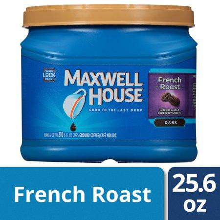 Maxwell House French Roast Ground Coffee, 25.6 oz (Maxwell Roasted Coffee)