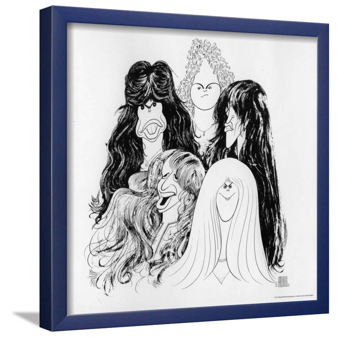 Aerosmith Draw The Line 1977 Framed Poster Wall Art By Epic Rights