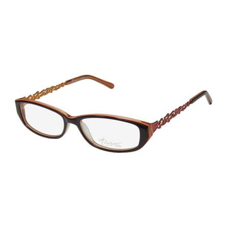 New Thalia Ramona Womens/Ladies Designer Full-Rim Eggplant / Red / Orange Sophisticated Hip Popular Shape Frame Demo Lenses 54-15-135 (Knock Off Designer Eyeglass Frames)