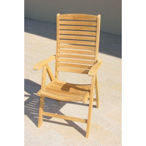 Royal Teak by Lanza Products Teakwood Folding Dining Arm Chair