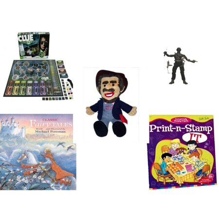 Children's Gift Bundle [5 Piece] - Clue Secrets and Spies - GI Joe Ninja  Snake Eyes Figure - BoxCar Willie Country Music Character Doll 16