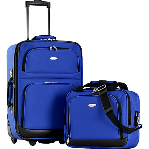 Olympia USA Let's Travel! 2Pc Carry-On Luggage Set