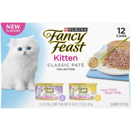 (12 Pack) Fancy Feast Kitten Classic Pate Collection Gourmet Wet Cat Food, 3.0 oz.