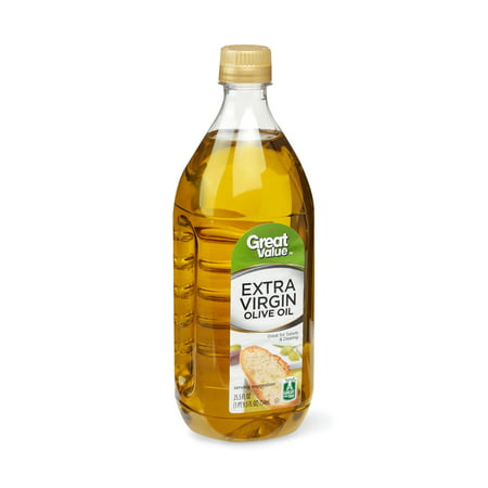 - Great Value: 100% Extra Virgin Olive Oil 25.5 oz