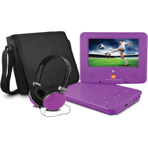 "JBL 7"" Portable DVD Player with Matching Headphones and Bag"