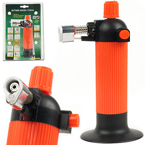 Self Igniting Refillable Butane Micro Torch