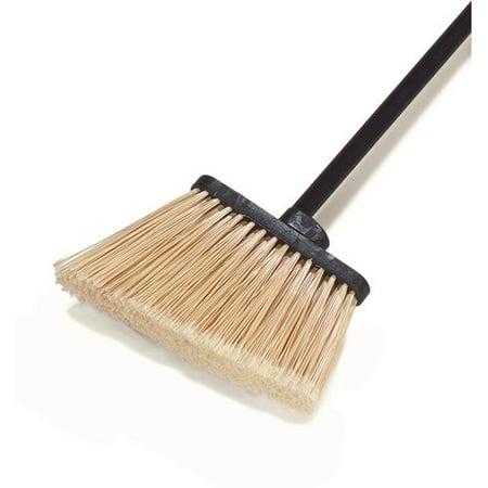 Duo Sweep Light Industrial Broom - Carlisle 3686700 Duo-Sweep Medium Duty Flagged Angle Broom Head, Polypropylene Bristle, 8