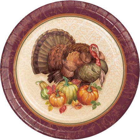 Creative Converting Thanksgiving Turkey Dessert Plates, 8 ct - Thanksgiving Plates