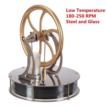 VADIV Stirling Engine Model Education Toys Low Temperature Motor Cool No Steam Heat - image 4 de 5