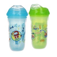 Nuby Insulated Cool Sipper Soft Spout Sippy Cup - 2 pack, Boy