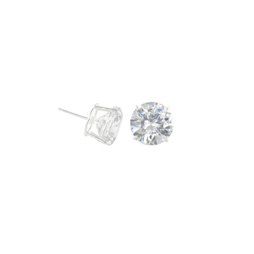 Ss Large Cz Round Earring