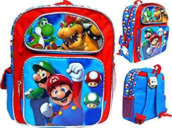 "Licensed Product Super Mario Luigi Bowser 12/"" Backpack BRAND NEW"