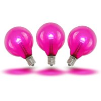 Novelty Lights 0.50 Watt, G40 LED Light Bulb, E12/Candelabra Base (Set of 25)