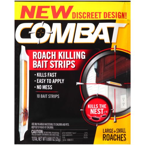 Combat Roach Killing Bait Strips, 10 count, 0.68 oz