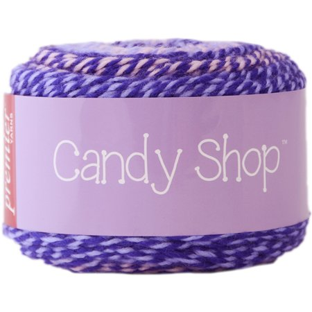 Two Strand Twists - 1057-06 Candy Shop Yarn-Nerds, Candy shop is a self-striping yarn with a twist! two strands of soft Acrylic are dyed separately in 3 coordinating.., By Premier Yarns