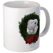 CafePress Snoopy Christmas Wreath Mug Unique Coffee Mug, Coffee Cup CafePress by
