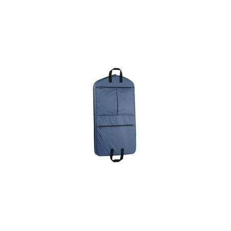 1a81a0ba1ec4 WallyBags Garment Bag w 2 Pockets in Navy Blue (40 in.)