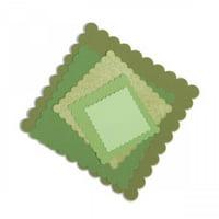 Sizzix Framelits Die Set 6PK Squares Scallop