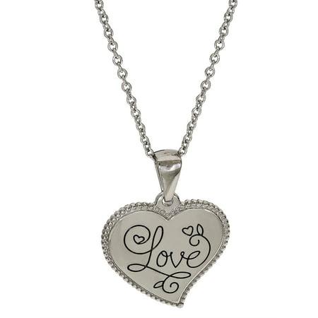 Stainless Steel Love Heart Pendant, 18