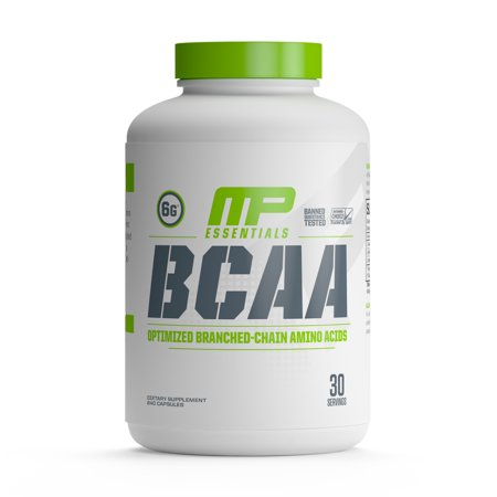 MusclePharm BCAA Essentials Capsules, Post Workout Recovery, 30 Servings (Post Workout Pills)