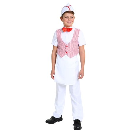 Boy's 50s Car Hop Costume (50's Car Hop Waitress Costume)