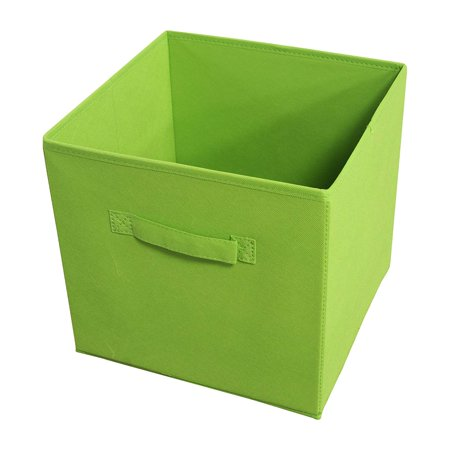 STRGBNGR04 Collapsible Storage Bins, Set of 4,Green, Perfect to Store Any Household Items Neatly & Out of Sight Fits into Standard 12x12 Cube Shelves Fabric.., By Achim Home Furnishings
