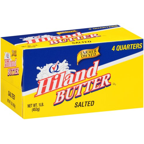 Hiland 4 Salted Quarters Butter, 1 lb