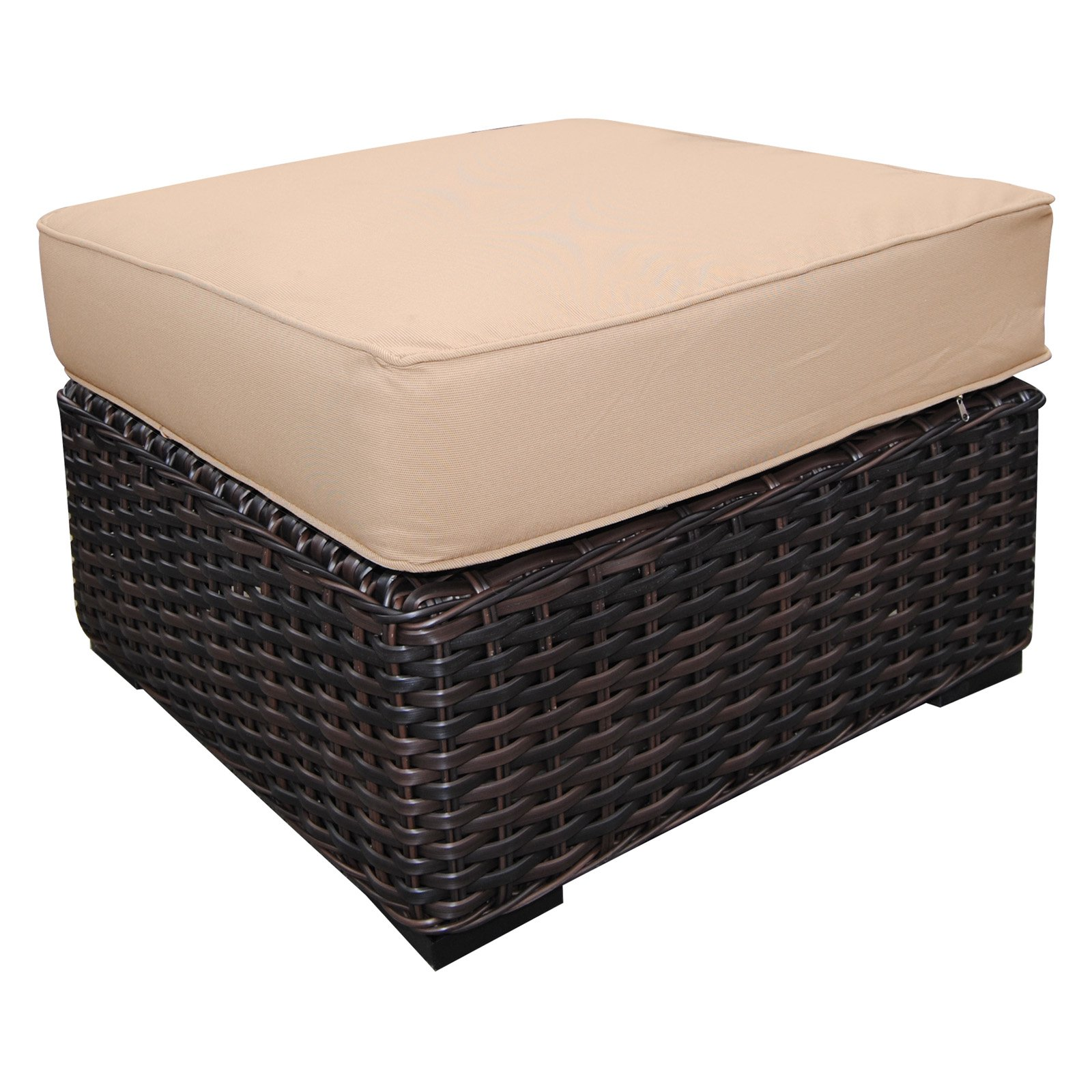Teva Patio Santa Monica Wicker Rattan Patio Ottoman