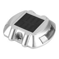HERCHR Casting Aluminum Solar Power Waterproof 6 LED Lamp Wireless Outdoor Road Driveway Pathway Light, Road Lamp, Solar Light