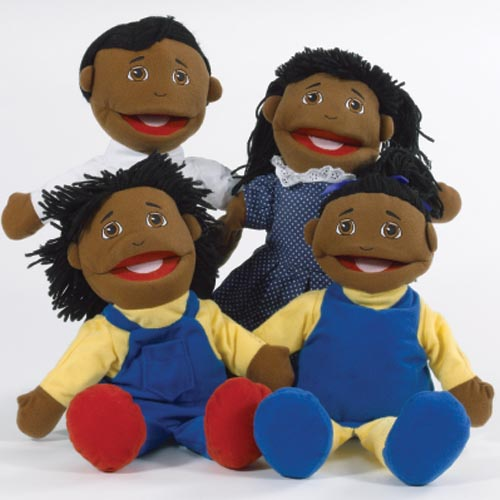 African American Family Puppet Set by Marvel Education Company