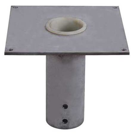 DAYTON 35Z837 Flush Mount Base,SS,for 4.5 In Mast