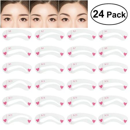 24pcs Eyebrow Stencils for Shaping Eyebrow Sharper Template Stencils for (Eyebrow Shape)