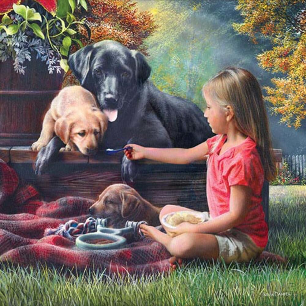 Masterpieces Puzzle Co Sharing Time Jigsaw Puzzle