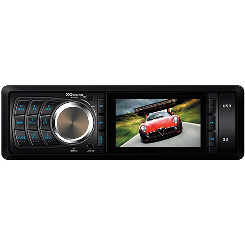 """XO Vision 3"""" DVD Receiver with Fully Detachable Face USB/SD and AV Inputs, XO1962"""