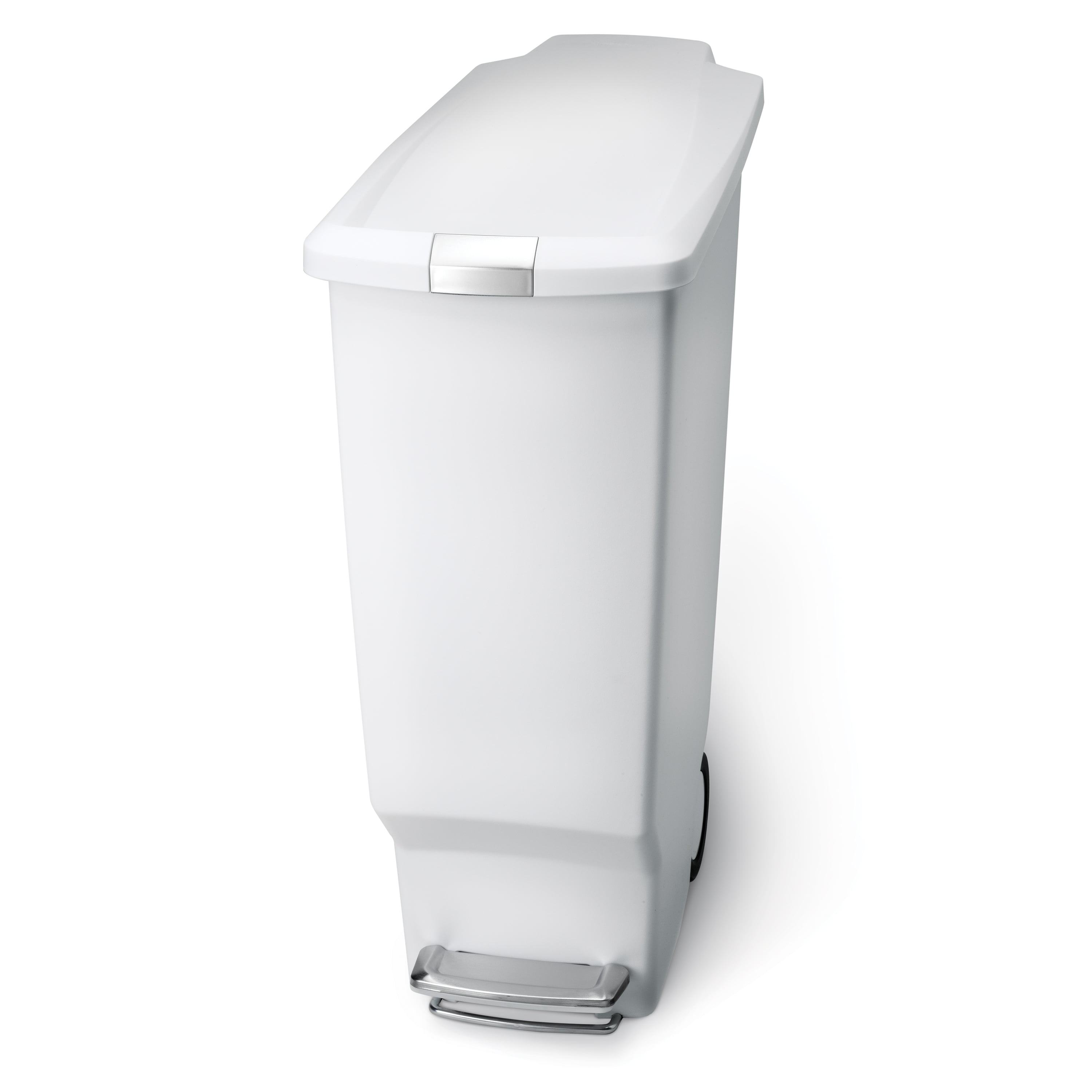 Simplehuman 40 Litre 10 6 Gallon Slim Step Trash Can White