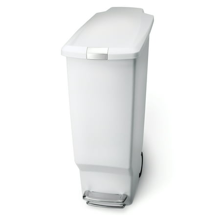 Simplehuman 40 Litre/10.6 Gallon Slim Step Trash Can - - White Trash Halloween