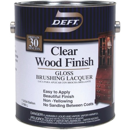 (Deft Interior Lacquer, Clear Wood Finish)