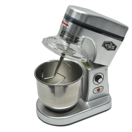 KWS M-B7 Commercial 620W Stand food Mixer,7 Quarts Silver Heavy-Duty for Restaurant/Bakery /Tea Shop/Coffee Shop