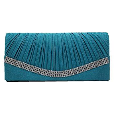 ef7a3e80ab88 nodykka wedding pleated shinny rhinestones clutches bag evening cross body  handbags purse