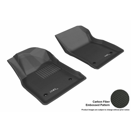 3D MAXpider 2012-2017 Buick Verano Front Row All Weather Floor Liners in Black with Carbon Fiber Look (Buick Rainier Floor)