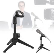 Foldable Tripod Desktop Microphone Stand Holder for Podcasts, Online Chat, Conferences, Lectures,meetings, and More,Adjustable Height 7.08 to 9.45 inches