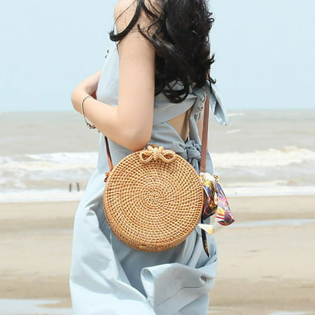 Nicesee Fashion Women Handmade Rattan Woven Straw Bag Bamboo Handbag Beach Tote (Tote Womens Oversized Handbag)