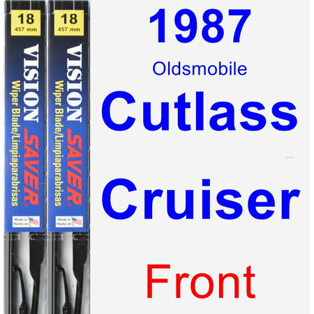 1987 Oldsmobile Cutlass Cruiser Wiper Blade Set/Kit (Front) (2 Blades) - Vision Saver ()