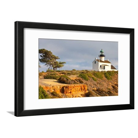 Point Loma Lighthouse in Cabrillo National Park, San Diego Framed Print Wall Art By