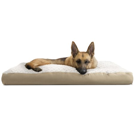 Furhaven Pet Dog Bed Deluxe Plush Pillow Pet Bed For