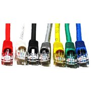 Link Depot 3' Ethernet Enhanced CAT6 Networking Cable, Assorted Colors