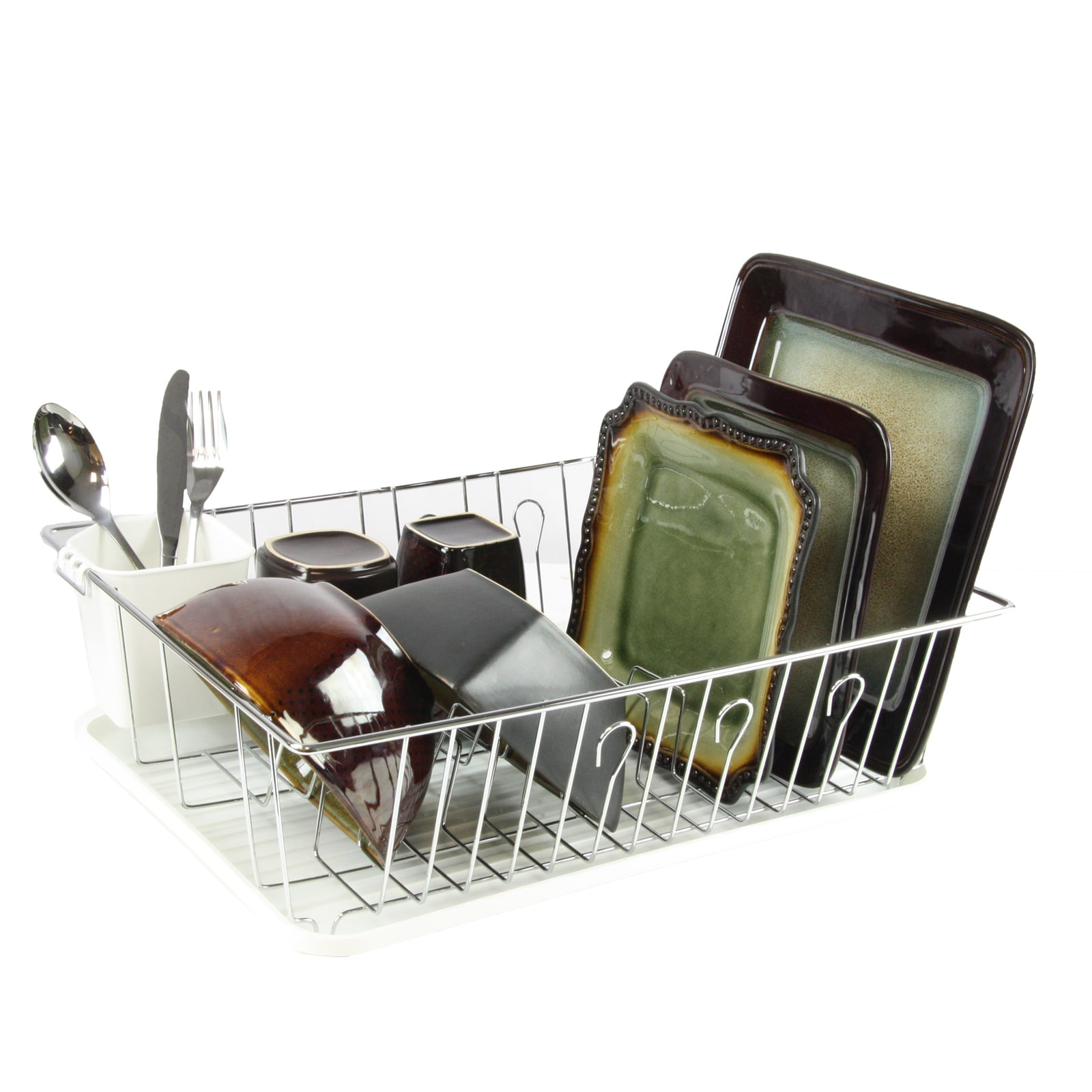 Mega Chef 17.5 Inch White Dish Rack by Supplier Generic